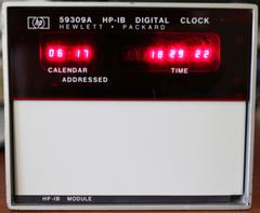 HP 59309A showing the date and time