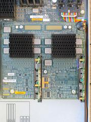 Close-up of the Dual 400MHz CPU module