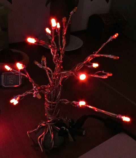 Decorative copper tree